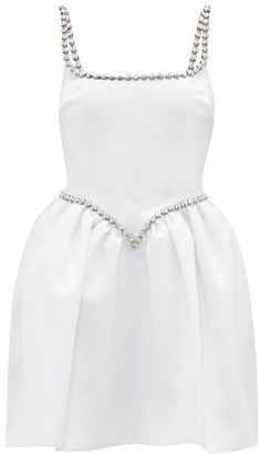 Christopher Kane Cupcake Crystal-embellished Satin Mini Dress - White