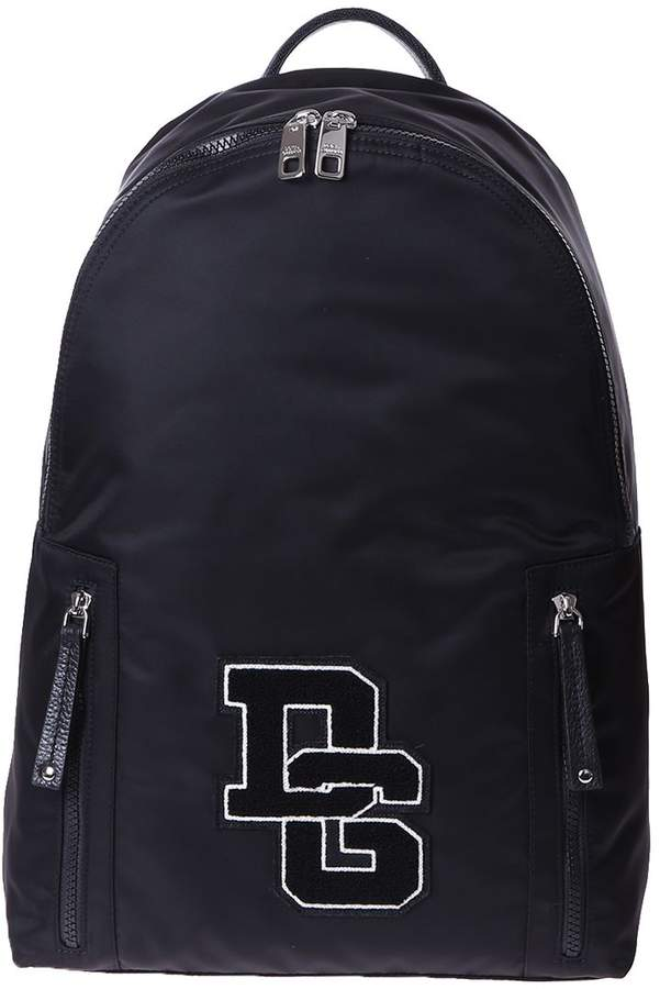 Dolce & Gabbana Nylon Patched Backpack