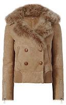 Liven Shearling Lamb Bomber Jacket