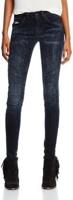 G Star Women's 5620 Elwood Custom Mid Waist Skinny Jeans