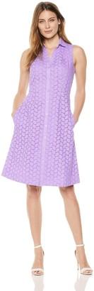 Foxcroft Women's Sleeveless Eyelet Dress