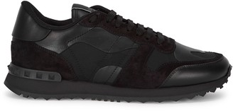 Valentino Runner camouflage-print suede sneakers