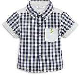 3 Pommes Infant Boys' Checkered Shirt- Sizes 3-24 Months