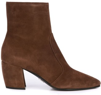 Prada low-heel ankle boots