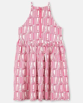 Stella McCartney pink stella type tencel dress
