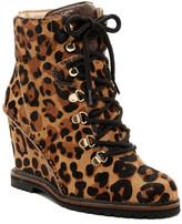 Diane von Furstenberg Sapna Geniune Calf Fur Lace Wedge Boot