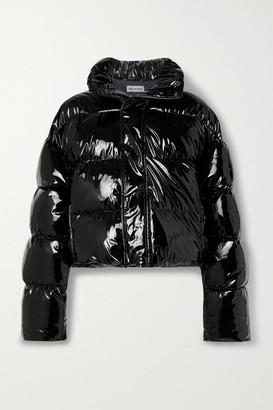 Balenciaga Hooded Quilted Vinyl Jacket - Black