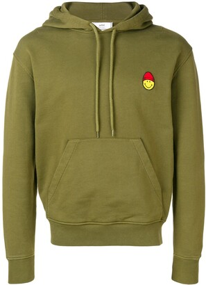 Ami Paris Hoodie With Patch Smiley