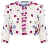 Marina Rinaldi Floral Appliqué Jacket