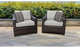 Kathy Ireland Homes & Gardens By Tk Classics River Brook Patio Chair with Cushions Homes & Gardens by TK Classics