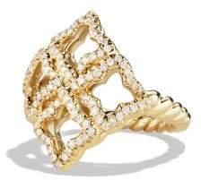 David Yurman Venetian Quatrefoil® Ring With Diamonds In 18K Gold