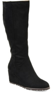 Journee Collection Women's Comfort Extra Wide Calf Parker Boot Women's Shoes