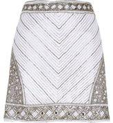 River Island Womens White embellished mini skirt