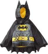 Western Chief Little Boys' Batman Caped Crusader Rain Coat, Black