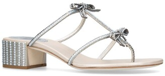 Rene Caovilla Jewelled Setina Sandals 40