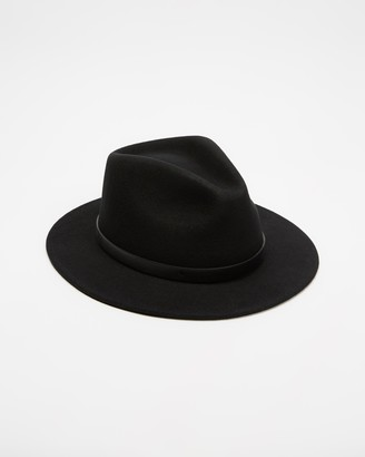 Brixton Black Hats - Messer Fedora - Size XS at The Iconic