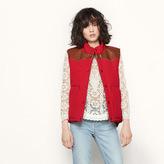 Maje Reversible sleeveless padded jacket
