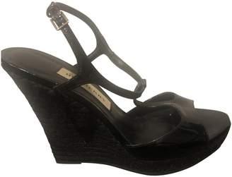 Burberry Black Patent leather Espadrilles