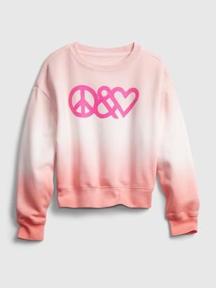 Gap Kids Dip-Dye Graphic Crewneck Sweatshirt
