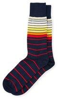 Paul Smith Sliding Striped Socks, Navy