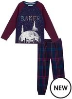 Ted Baker Boys' Navy Constellation Print Glow In The Dark Pyjama Set