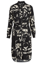 Topshop Letter Print Shirtdress
