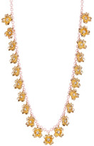 Carolee Tiny Flower Station Long Chain Necklace
