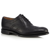 Loake Black Perforated Leather Brogues