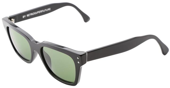 Super America Vetra (Black/Deep Bottled Green/Barberini Glass Lens) - Eyewear