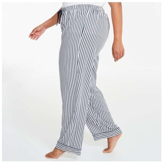 Joe Fresh Women+ Rayon Sleep Pants, White (Size 3X)