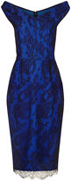 Emilio De La Morena Cobalt & Black Eloise Lace Dress