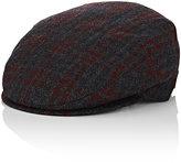 Borsalino Men's Wool-Cashmere Ivy Cap-DARK GREY, BURGUNDY