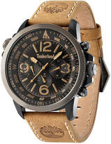 Timberland Men's Camptom Tan Leather Strap Watch 46x53mm TBL13910JSBU02