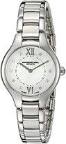 Raymond Weil Women's 'Noemia' Swiss Quartz Stainless Steel Dress Watch, Color:Silver-Toned (Model: 5127-ST-00985)