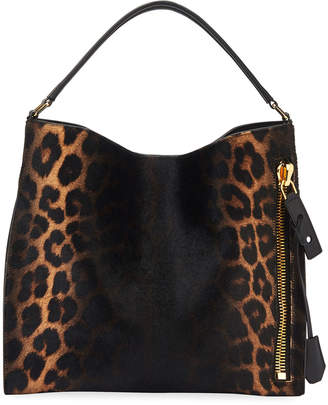 Tom Ford Alix Small Ombre Leopard Hobo Bag
