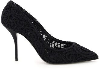Dolce & Gabbana cardinale pumps cordonet embroidery