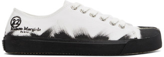 Maison Margiela White and Black Vandal Tabi Sneakers