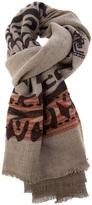 Etro raw edge scarf