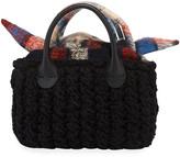 Muun Panier Rib Mini Hand-Knit Top-Handle Bag