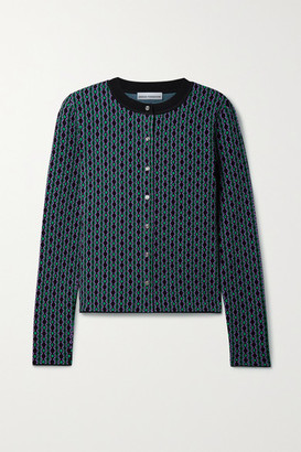 Paco Rabanne Intarsia Knitted Cardigan - Black