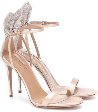 Aquazzura Bow Tie 105 embellished sandals