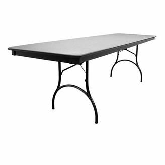"MityLite 96"" Rectangular Folding Table Finish: Gray"