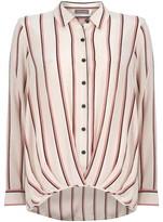Mint Velvet Pink Hem Tuck Hem Shirt