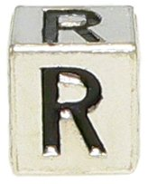 "Olympia Block Letter ""R"" Alphabet Charm - Major Brand Name Bracelet Compatible"