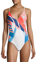 Vince Camuto Rainforest Crisscross One-Piece Swimsuit
