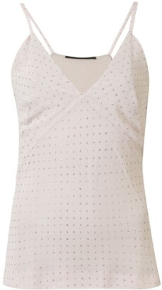 Haider Ackermann Glittered Polka-Dot Top