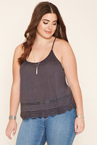 Forever 21 FOREVER 21+ Plus Size Lace-Panel Cami