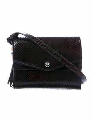 Elizabeth and James Embossed Leather Crossbody Bag Brown