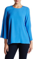 Kensie Bell Sleeve Paneled Blouse