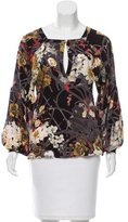 Just Cavalli Silk Floral Print Top